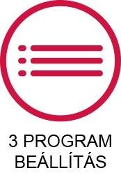 3 program beállítás ikon